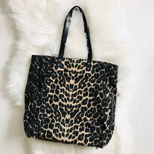 Sam Edelman Amelie Leopard-Print Tote Bag